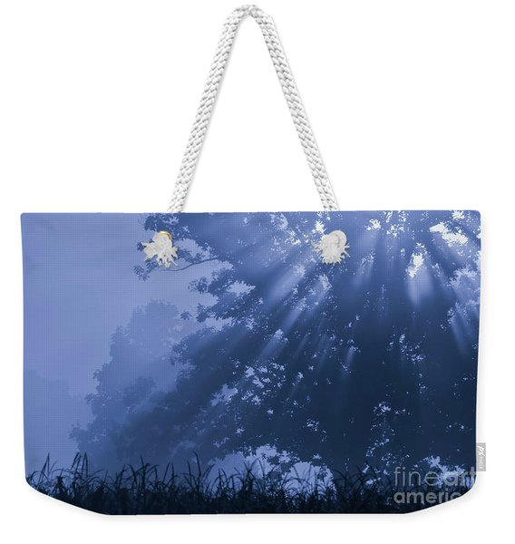 Light In Blue Weekender Tote Bag