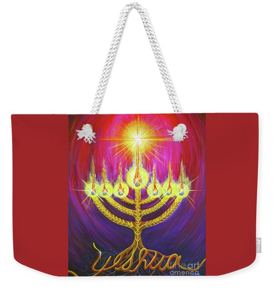 Weekender Tote Bag featuring the painting Light Of Life by Nancy Cupp