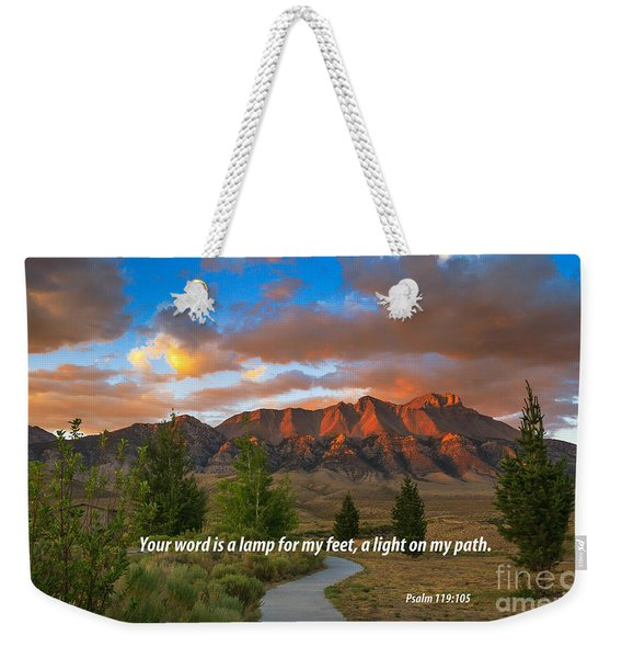 Light On My Path Weekender Tote Bag