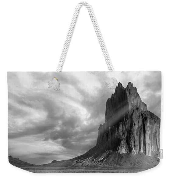 Light On Shiprock Weekender Tote Bag