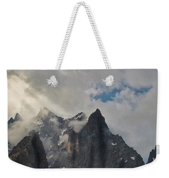 Light On The French Alps Weekender Tote Bag
