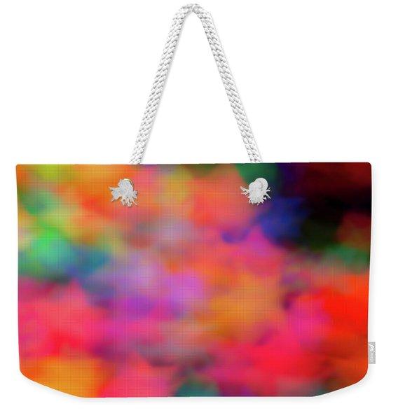 Lucky Neon Stars Weekender Tote Bag