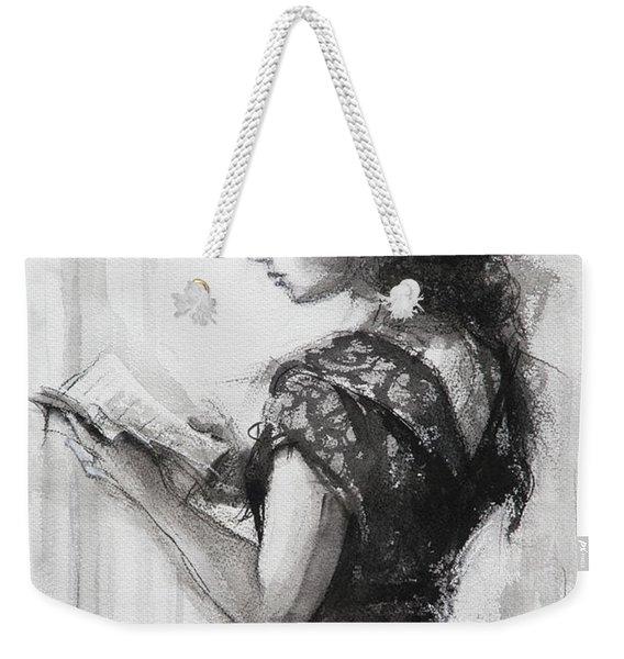 Light Reading  Weekender Tote Bag