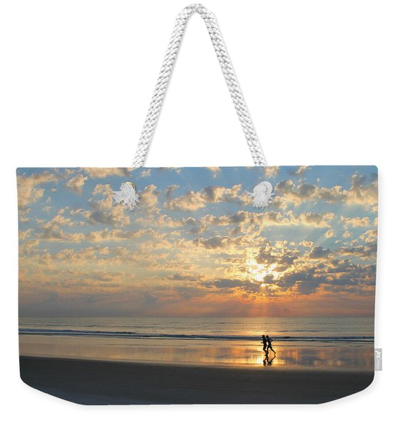 Light Run Weekender Tote Bag