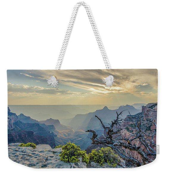 Light Seeks The Depths Of Grand Canyon Weekender Tote Bag