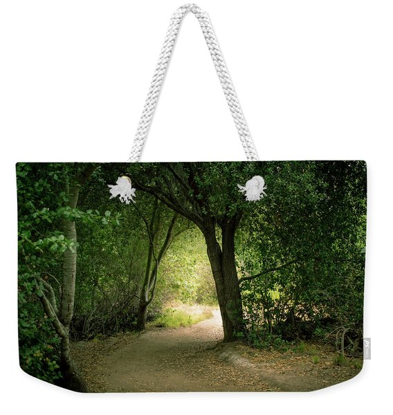Light Through The Tree Tunnel Weekender Tote Bag