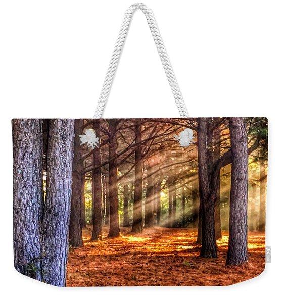 Light Thru The Trees Weekender Tote Bag