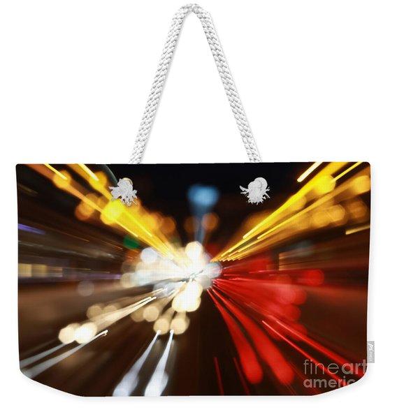 Light Trails Weekender Tote Bag