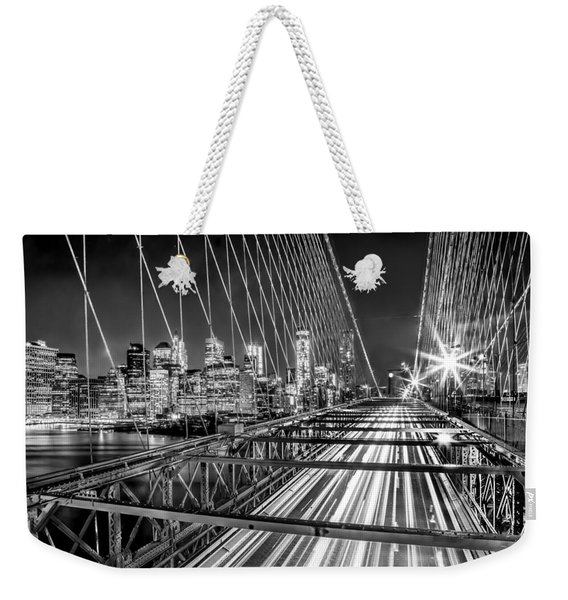 Light Trails Of Manhattan Weekender Tote Bag