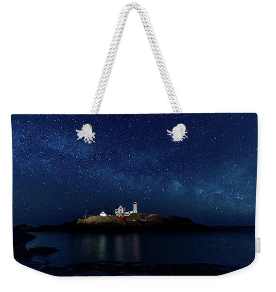 Light Up Nubble Lighthouse Weekender Tote Bag