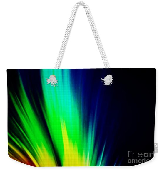 Weekender Tote Bag featuring the mixed media Lightburst by Writermore Arts