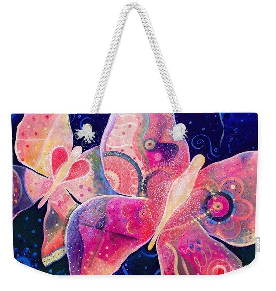 Lighthearted In Full Spectrum Weekender Tote Bag