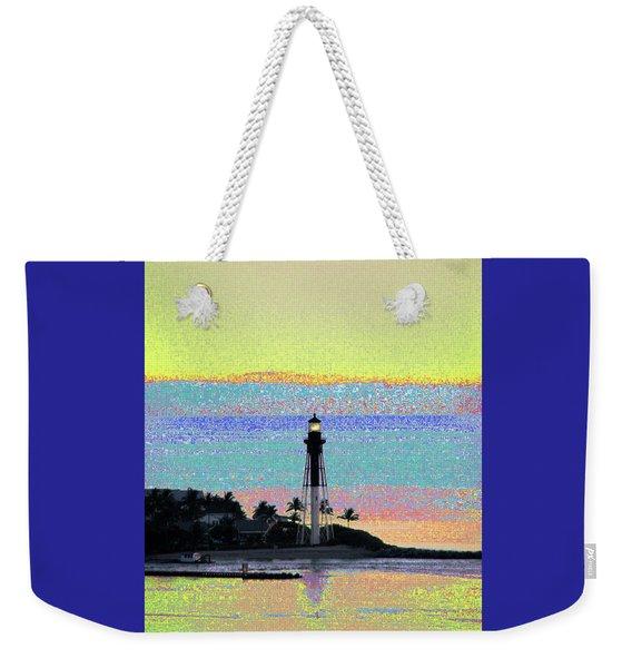Luminous Florida Yellow At Hillsboro Lighthouse Weekender Tote Bag