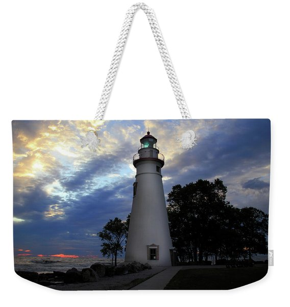 Lighthouse At Sunrise Weekender Tote Bag
