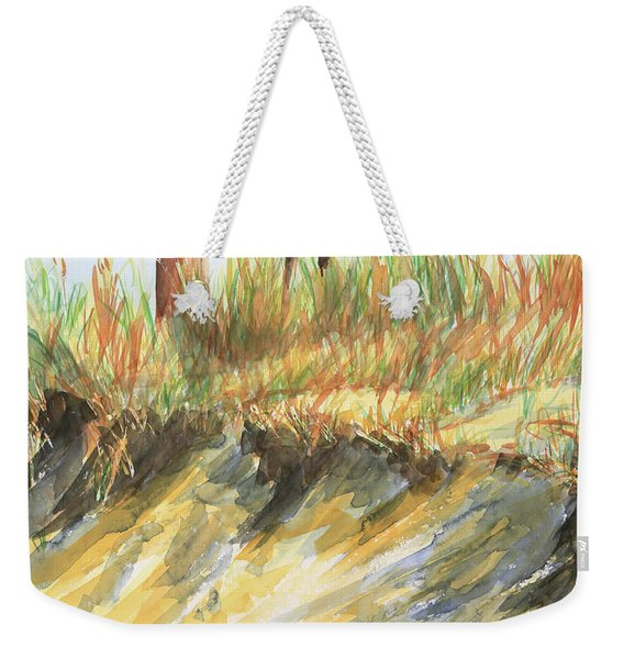 Lighthouse At The Beach Weekender Tote Bag