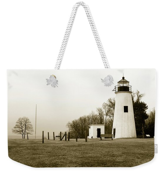 Lighthouse At Turkey Point Weekender Tote Bag