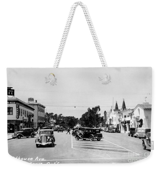 Lighthouse Avenue Downtown Pacific Grove, Calif. 1935  Weekender Tote Bag