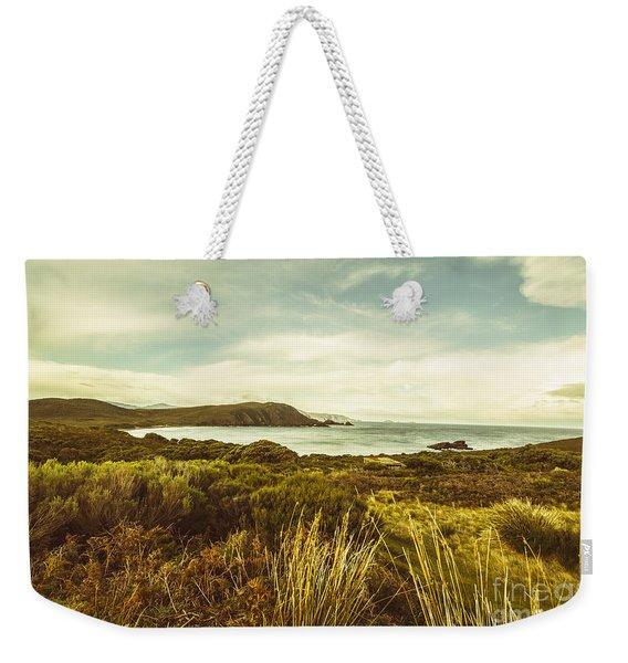 Lighthouse Bay Beach Bruny Island Weekender Tote Bag