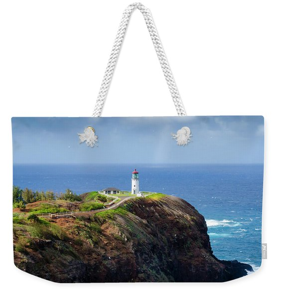 Lighthouse On A Cliff Weekender Tote Bag