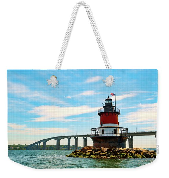 Lighthouse On A Small Island Weekender Tote Bag