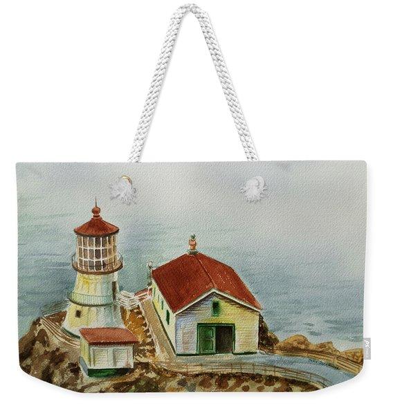 Lighthouse Point Reyes California Weekender Tote Bag