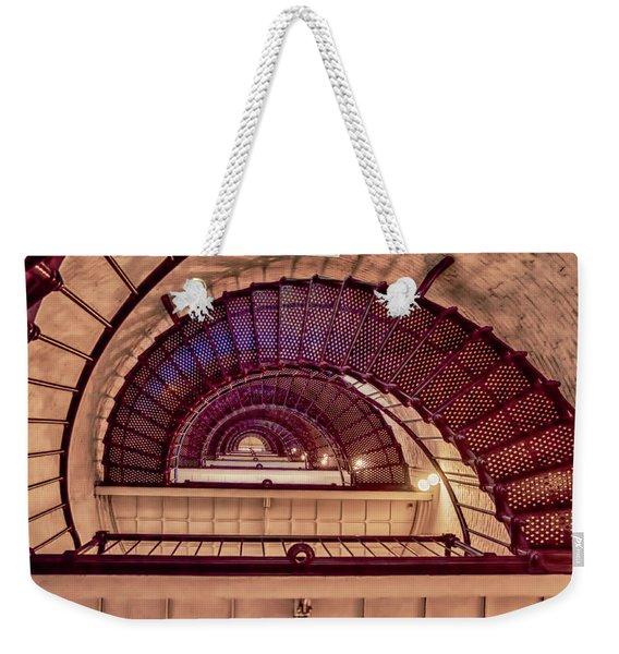 Lighthouse Stairwell Weekender Tote Bag