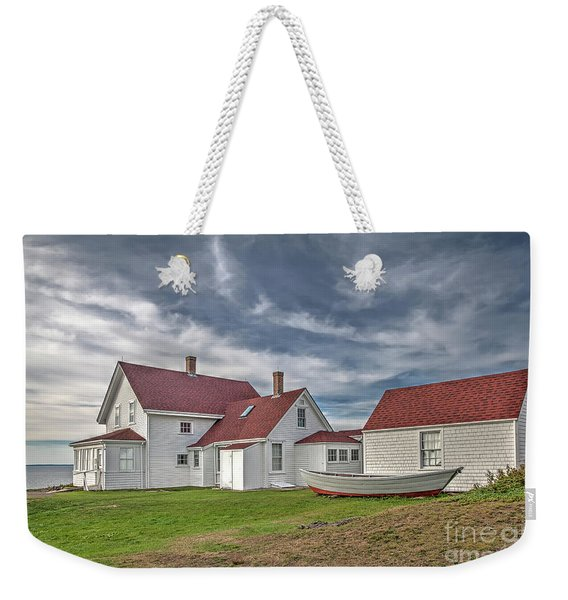 Keepers House At The Monheagn Lighthouse Weekender Tote Bag