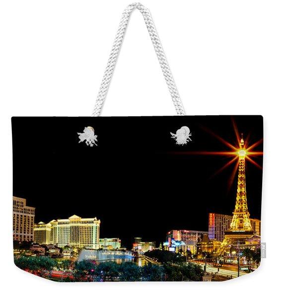 Lighting Up Vegas Weekender Tote Bag