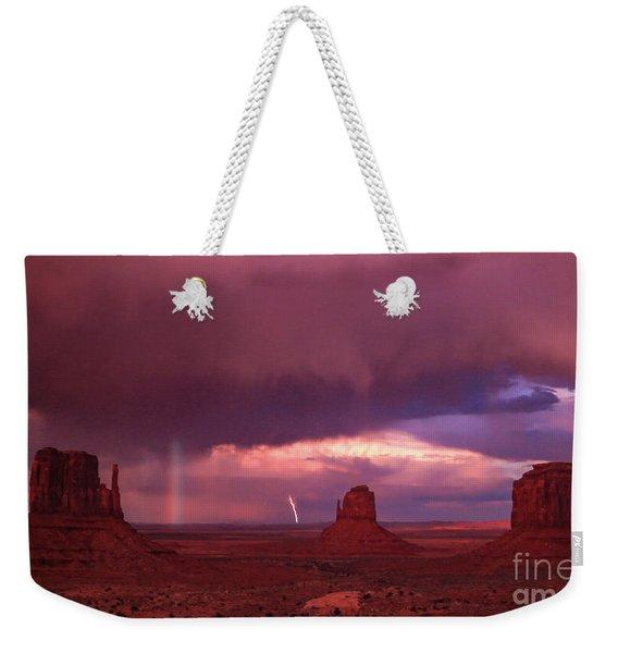 Lightning And Rainbow Weekender Tote Bag