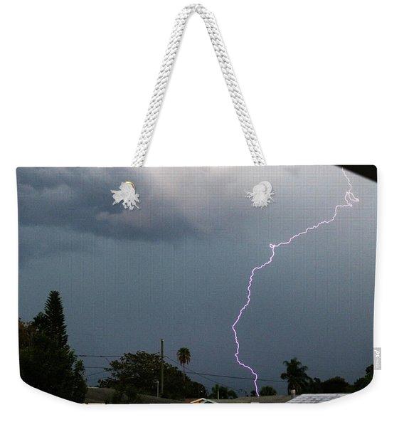 Lightning Bolt Illuminates The Sky Weekender Tote Bag