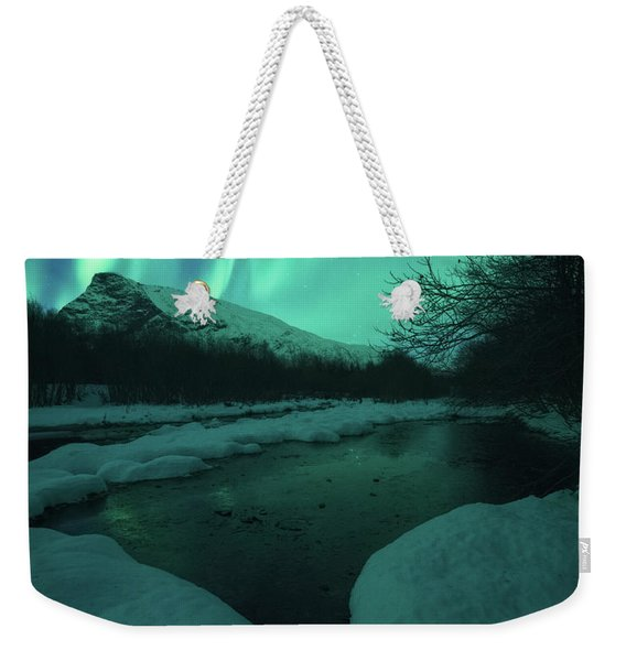 Lights Above Kjellerkampen Weekender Tote Bag