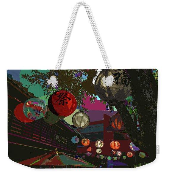lights are on in little Tokyo Weekender Tote Bag