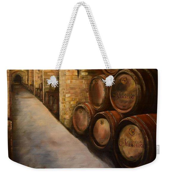 Lights In The Wine Cellar - Chateau Meichtry Vineyard Weekender Tote Bag