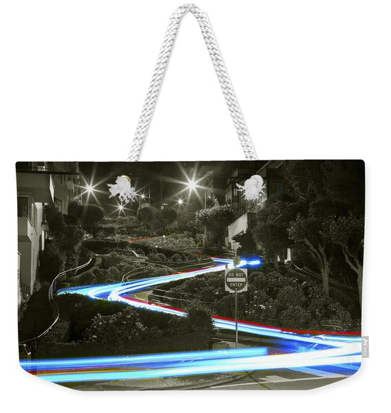 Lights On Lombard Black And White Weekender Tote Bag
