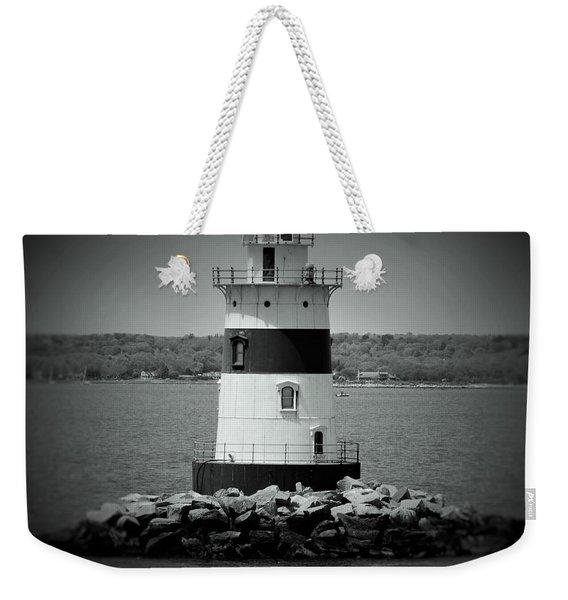 Lights Out-bw Weekender Tote Bag