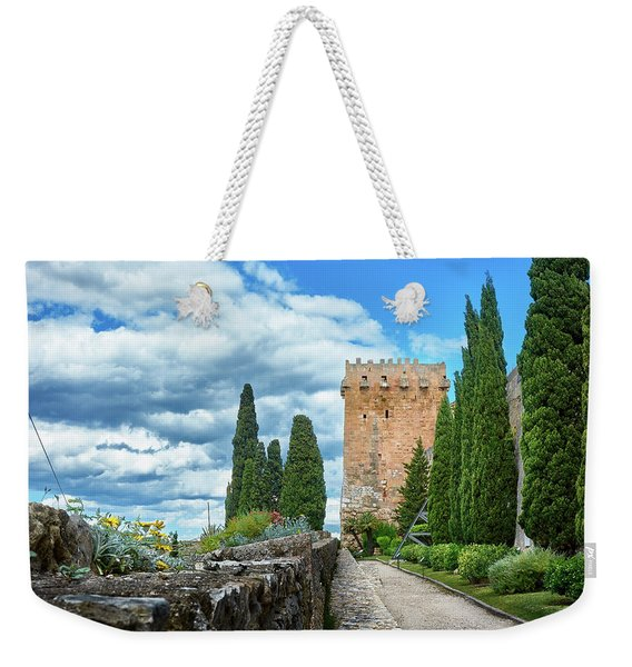 Like A Fortress In The Sky Weekender Tote Bag