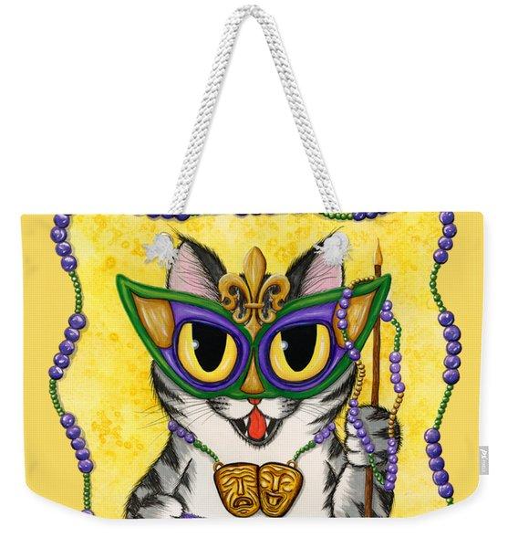 Lil Mardi Gras Cat Weekender Tote Bag