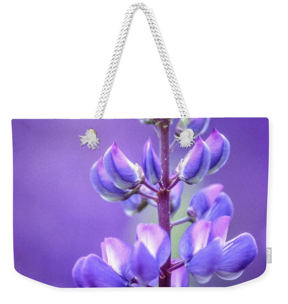 Lilac Bluebonnet Flower Weekender Tote Bag