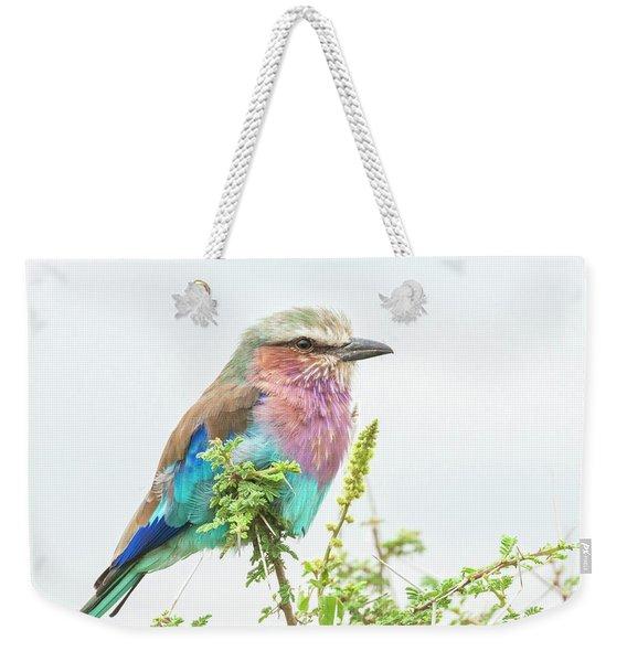 Lilac Breasted Roller. Weekender Tote Bag