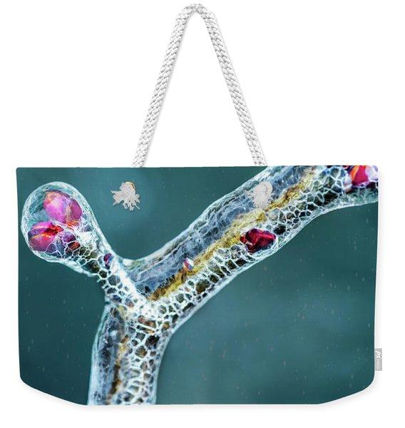 Lilac Buds In Ice Weekender Tote Bag
