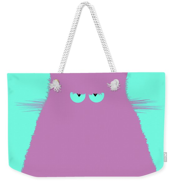 Lilac Cat Weekender Tote Bag