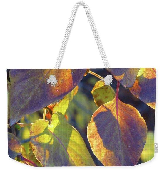 Lilac Leaves Weekender Tote Bag