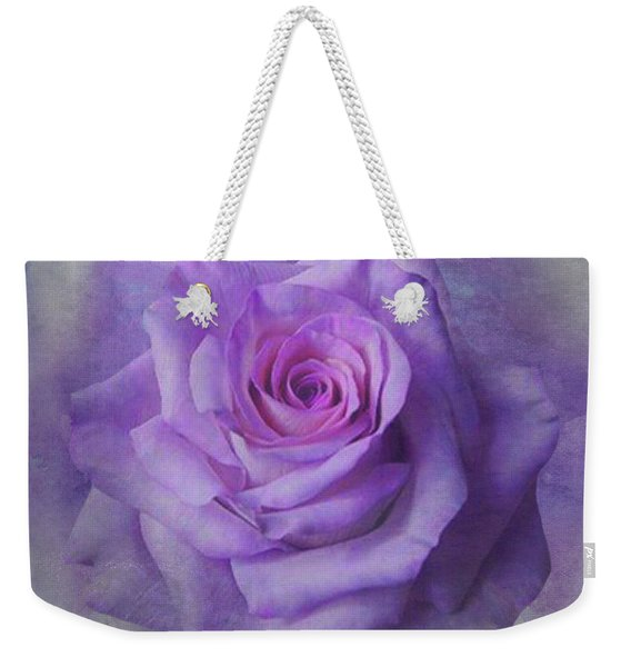 Lilac Purple Rose Weekender Tote Bag