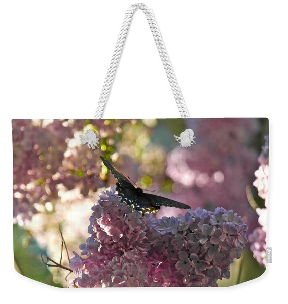 Lilac World Weekender Tote Bag