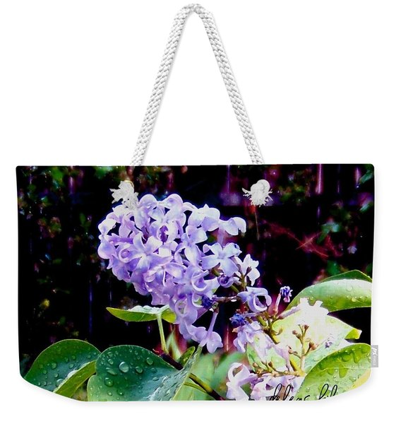 Weekender Tote Bag featuring the photograph Lilacs by Deleas Kilgore