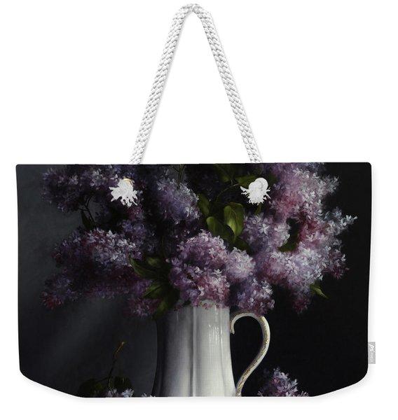 Lilacs/haviland Water Pitcher Weekender Tote Bag