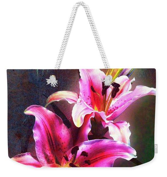 Lilies At Night Weekender Tote Bag