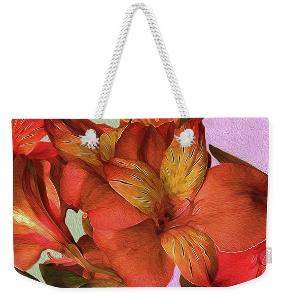 Lily Bouquet In North Light Weekender Tote Bag
