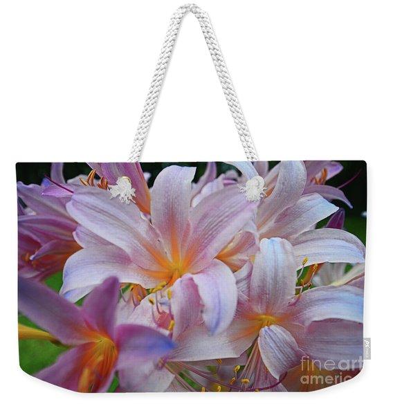 Lily Lavender Closeup Weekender Tote Bag