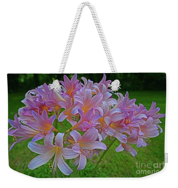 Lily Lavender Weekender Tote Bag
